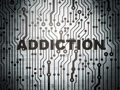 Health concept: circuit board with Addiction Stock Illustration