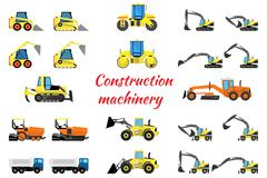 Set construction equipment - stock illustration
