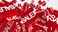 Cubes with message sale Stock Footage
