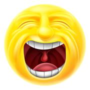 Screaming Emoticon Emoji - stock illustration