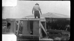 Men Sheep Farm Shearing Wool 1960s Vintage Film Home Movie 8790 Stock Footage