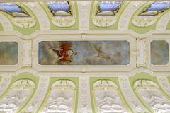 Nizhny Novgorod, Russia - 03.11.2015. Decoration of ceiling and walls in museum Stock Photos