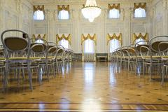 Nizhny Novgorod, Russia - 03.11.2015. Ballroom in  museum estate  Rukavishnikov Stock Photos