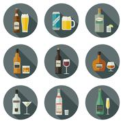 Beverages and drinks icons. Piirros