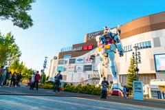 Full size Gundam Performances Outside DiverCity Tokyo Plaza, Odaiba, Tokyo, J Stock Photos