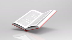 3D Book background Stock Footage