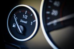 Fuel gauge - diesel - stock photo