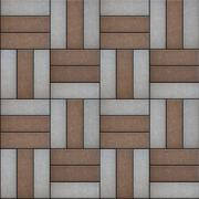 Stock Illustration of Brown and Gray Paving of Rectangular Shape