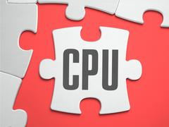 CPU - Puzzle on the Place of Missing Pieces Stock Illustration