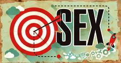 Sex on Grunge Poster - stock illustration