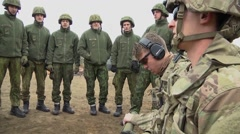 Lithuania Rukla, November 2015, Lithuania Soldiers Instruction For Bangalore Stock Footage