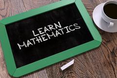 Learn Mathematics on Chalkboard - stock illustration