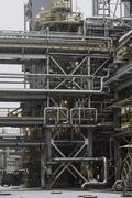 Fuel production petrochemical plant, refining, tank farm Stock Photos