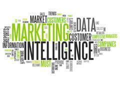Word Cloud Marketing Intelligence - stock illustration