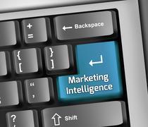 Keyboard Illustration Marketing Intelligence - stock illustration