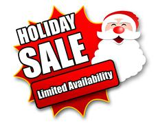 Stock Illustration of Holiday Season Promotional Sticker