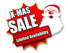 Holiday Season Promotional Sticker - stock illustration