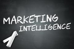 Blackboard Marketing Intelligence - stock illustration