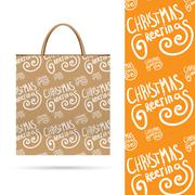 Stock Illustration of Holiday pattern over paper package