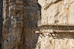 'El Caminito del Rey' (King's Little Path), World's Most Dangerous Footpath r - stock photo