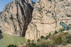 'El Caminito del Rey' (King's Little Path), World's Most Dangerous Footpath r Stock Photos