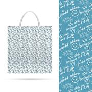 Holiday pattern over paper package - stock illustration