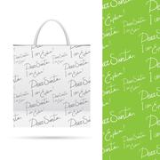 Holiday pattern over paper package Stock Illustration