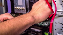 Installing the computer Stock Footage