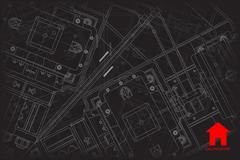Vector architect background - stock illustration