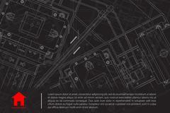 Vector architect background - stock illustration