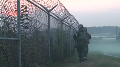 Vigilant Ace, November 2015, Operation Soldier Patrol Along Fence - stock footage