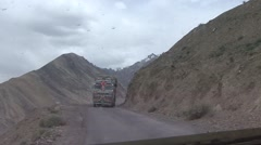 Shot of a Dangerous road in Himalaya. Stock Footage