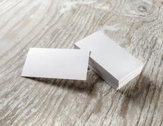 Mockup of business cards Stock Photos