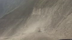 Shot of a Dangerous road in Himalay. Stock Footage
