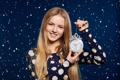 Christmas, New Year, winter holidays celebration - stock photo