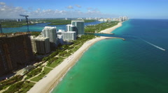 Aerial Bal Harbour Miami Beach Stock Footage