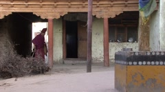 Karsha gompa monks 1 Stock Footage