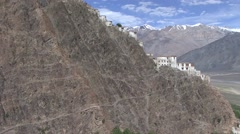 Karsha gompa view 1 Stock Footage