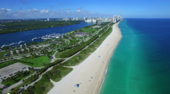 Aerial Haulover Beach FL Stock Footage