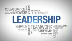 Stock Video Footage of Leadership - Animated Word Cloud