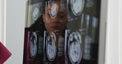 Stock Video Footage of Doctors reviewing brain x-rays