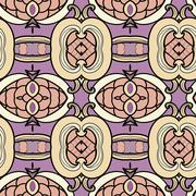 Abstract ornament pattern. kaleidoscope effect. - stock illustration