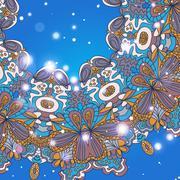 Stock Illustration of Mandala ornament Geometric circle element