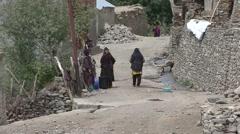 Karsha village life at Jammu and Kashmir. Stock Footage