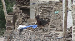 Karsha village life. Stock Footage