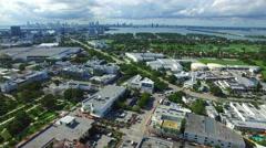 Aerial video Dade Avenue Miami Beach Stock Footage