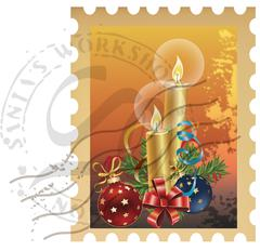 Holiday Stamps Stock Illustration