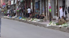 View of a life on a Leh street market. Stock Footage