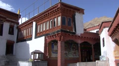 Likir Buddhist Monastery in Himalaya. Stock Footage