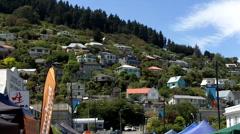 Lyttelton market Christchurch New Zealand Stock Footage
